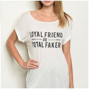 Loyal Friend Ivory Graphic Tee Various Sizes